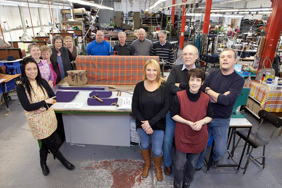These are the lovely people at Brady in Walsall, England who make your bags by hand. The Original Peter manufacturing process in action, showing one of our Original Peter Record Hunting Bags being hand made by Brady Bags in Walsall, England to the highest specification with the highest quality materials.