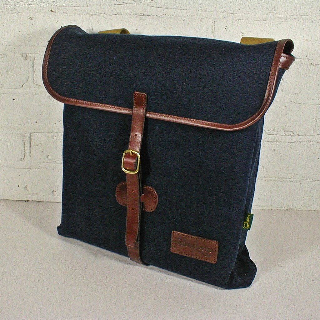 Original Peter Utrecht LP Record Hunting Bag (Navy), side view